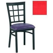 "Grid-Back Chair 17-1/2""W X 16""D X 35""H - Red - Pkg Qty 2"