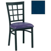 "Grid-Back Chair 17-1/2""W X 16""D X 35""H - Slate Blue - Pkg Qty 2"