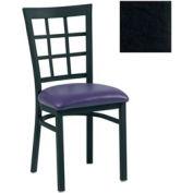 """Grid-Back Chair 17-1/2""""W X 16""""D X 35""""H - Black - Pkg Qty 2"""