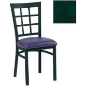 "Grid-Back Chair 17-1/2""W X 16""D X 35""H - Knockout Green - Pkg Qty 2"