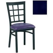 """Grid-Back Chair 17-1/2""""W X 16""""D X 35""""H - Knockout Blue - Pkg Qty 2"""