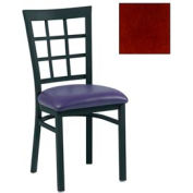 "Grid-Back Chair 17-1/2""W X 16""D X 35""H - Mahogany - Pkg Qty 2"
