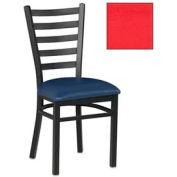 "5 Slat-Back Chair 17-1/2""W X 16-1/2""D X 36""H - Red - Pkg Qty 2"