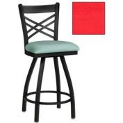 "Criss-Cross Back Swivel Bar Stool 17-1/2""W X 17""D X 45""H Red Package Count 2"