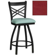 "Criss-Cross Back Swivel Bar Stool 17-1/2""W X 17""D X 45""H Burgundy Package Count 2"