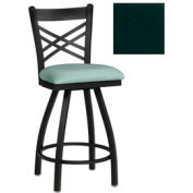 "Criss-Cross Back Swivel Bar Stool 17-1/2""W X 17""D X 45""H Hunter Green Package Count 2"