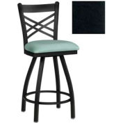 "Criss-Cross Back Swivel Bar Stool 17-1/2""W X 17""D X 45""H - Black - Pkg Qty 2"
