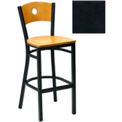 "Cherry Circle-Back Bar Stool 17-1/2""W X 17""D X 42""H - Textured Black - Pkg Qty 2"