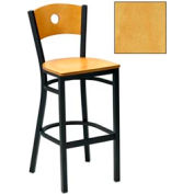 "Natural Circle-Back Bar Stool 17-1/2""W X 17""D X 42""H - Pkg Qty 2"