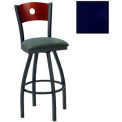 "Natural Circle-Back Swivel Bar Stool 17-1/2""W X 17""D X 42""H - Knockout Blue - Pkg Qty 2"