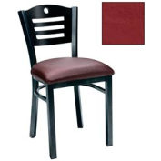 "Cherry 3 Slat-Back Chair 17-1/2""W X 17""D X 32""H - Burgundy - Pkg Qty 2"