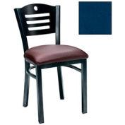 """Mahogany 3 Slat-Back Chair 17-1/2""""W X 17""""D X 32""""H - Slate Blue - Pkg Qty 2"""