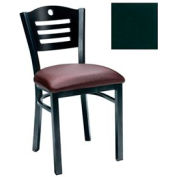 "Mahogany 3 Slat-Back Chair 17-1/2""W X 17""D X 32""H - Hunter Green - Pkg Qty 2"