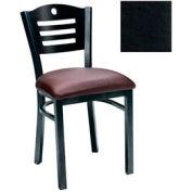 "Mahogany 3 Slat-Back Chair 17-1/2""W X 17""D X 32""H - Black - Pkg Qty 2"