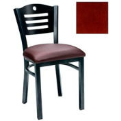 "Mahogany 3 Slat-Back Chair 17-1/2""W X 17""D X 32""H - Pkg Qty 2"