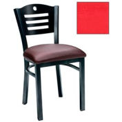 "Natural 3 Slat-Back Chair 17-1/2""W X 17""D X 32""H - Red - Pkg Qty 2"