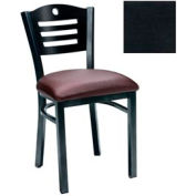 "Natural 3 Slat-Back Chair 17-1/2""W X 17""D X 32""H - Textured Black - Pkg Qty 2"