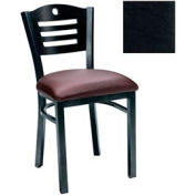 "Natural 3 Slat-Back Chair 17-1/2""W X 17""D X 32""H - Black - Pkg Qty 2"