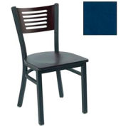 "Cherry 5 Slat-Back Stack Chair 17-1/2""W X 17""D X 32""H - Slate Blue - Pkg Qty 2"