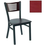 "Mahogany 5 Slat-Back Stack Chair 17-1/2""W X 17""D X 32""H - Burgundy - Pkg Qty 2"