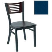 """Mahogany 5 Slat-Back Stack Chair 17-1/2""""W X 17""""D X 32""""H - Slate Blue - Pkg Qty 2"""