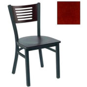 "Mahogany 5 Slat-Back Stack Chair 17-1/2""W X 17""D X 32""H - Pkg Qty 2"