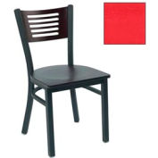 "Natural 5 Slat-Back Stack Chair 17-1/2""W X 17""D X 32""H - Red - Pkg Qty 2"