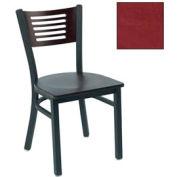"""Natural 5 Slat-Back Stack Chair 17-1/2""""W X 17""""D X 32""""H - Burgundy - Pkg Qty 2"""