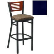 "Cherry 5 Slat-Back Bar Stool 17-1/2""W X 17""D X 42""H - Knockout Blue - Pkg Qty 2"