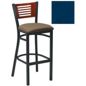 "Mahogany 5 Slat-Back Bar Stool 17-1/2""W X 17""D X 42""H - Slate Blue - Pkg Qty 2"