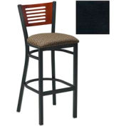 "Natural 5 Slat-Back Bar Stool 17-1/2""W X 17""D X 42""H - Textured Black - Pkg Qty 2"