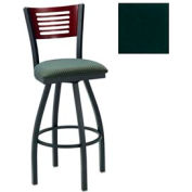 "Cherry 5 Slat-Back Swivel Bar Stool 17-1/2""W X 17""D X 42""H Hunter Green Package Count 2"
