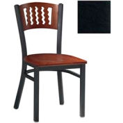"Cherry 5 Wave-Back Chair 17-1/2""W X 17""D X 32""H - Black - Pkg Qty 2"