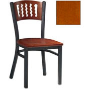 "Cherry 5 Wave-Back Chair 17-1/2""W X 17""D X 32""H - Pkg Qty 2"
