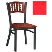 "Mahogany 5 Wave-Back Chair 17-1/2""W X 17""D X 32""H - Red - Pkg Qty 2"