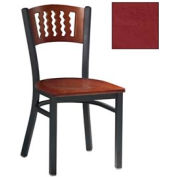 "Mahogany 5 Wave-Back Chair 17-1/2""W X 17""D X 32""H - Burgundy - Pkg Qty 2"
