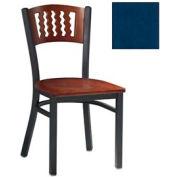 "Mahogany 5 Wave-Back Chair 17-1/2""W X 17""D X 32""H - Slate Blue - Pkg Qty 2"