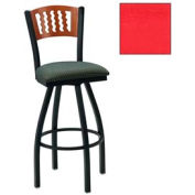 "Natural 5 Wave-Back Swivel Bar Stool 17-1/2""W X 17""D X 42""H Red Package Count 2"