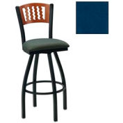 "Natural 5 Wave-Back Swivel Bar Stool 17-1/2""W X 17""D X 42""H - Slate Blue - Pkg Qty 2"