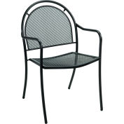 Premier Hospitality Furniture Brentwood Outdoor Metal Chair With Arms - Pkg Qty 4