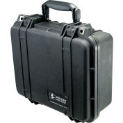 "Pelican 1400 Watertight Small Case With Foam 13-3/8"" x 11-5/8"" x 6"", Black"