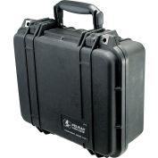 "Pelican 1400 Watertight Small Case With Foam 13-3/8"" x 11-5/8"" x 6"", Black"