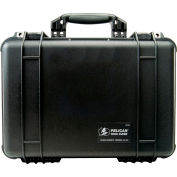 "Pelican 1500 Watertight Medium Case With Foam 16-3/4"" x 11-3/16"" x 6-1/8"", Black"