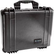 "Pelican 1550 Watertight Medium Case With Foam 20-11/16"" x 17-3/16"" x 8-3/8"", Black"