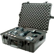 "Pelican 1600 Watertight Large Case With Foam 24-3/8"" x 19-3/8"" x 8-13/16"", Black"