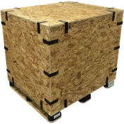 "SURE-LOK® OSB Standard Grade Crate - standard-46-46-11 - Collapsible, Inside 46""L x 46""W x 11""H"
