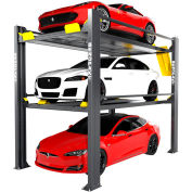 BendPak® Tri-Level Parking Lift 9,000 and 7,000 lb Capacity, Extended, Galvanized
