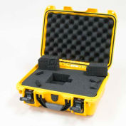 "Nanuk 915 Case w/Foam, 15-3/8""L x 12-1/8""W x 6-13/16""H, Yellow"