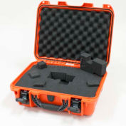 "Nanuk 920 Case w/Foam, 16-11/16""L x 13-3/8""W x 6-13/16""H, Orange"