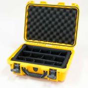 "Nanuk 920 Case w/Padded Divider, 16-11/16""L x 13-3/8""W x 6-13/16""H, Yellow"